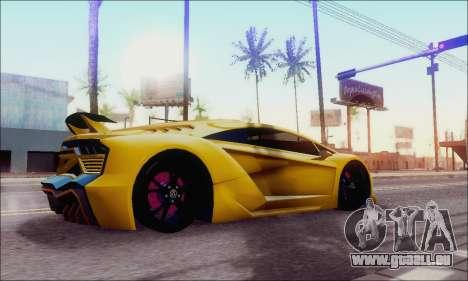 Zentorno GTA 5 V.1 für GTA San Andreas linke Ansicht