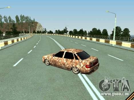 VAZ 2110 camouflage pour GTA San Andreas sur la vue arrière gauche