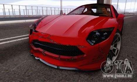 Hijak Khamelion V1.0 pour GTA San Andreas sur la vue arrière gauche