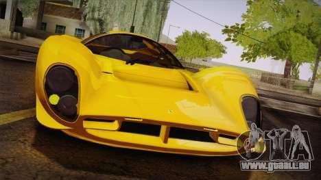 Ferrari 330 P4 1967 IVF für GTA San Andreas obere Ansicht