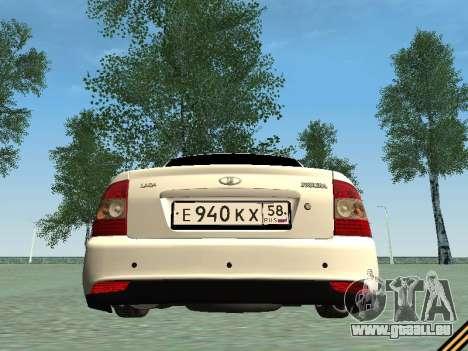 Lada 2170 Priora für GTA San Andreas Rückansicht