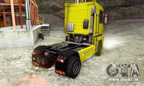 Renault Magnum Stock 2009 pour GTA San Andreas laissé vue
