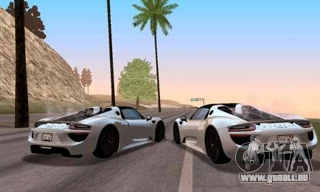 Porsche 918 2013 für GTA San Andreas rechten Ansicht