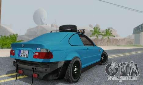 BMW M3 E46 Offroad Version pour GTA San Andreas vue arrière