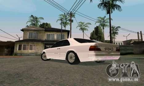 Mercedes-Benz W124 Coupe pour GTA San Andreas sur la vue arrière gauche