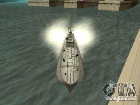 Le torpilleur type G-5 pour GTA San Andreas laissé vue