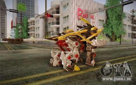 Energy Liger from Zoids pour GTA San Andreas deuxième écran