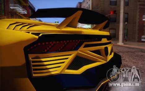 Zentorno из GTA 5 für GTA San Andreas Seitenansicht