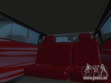 Hummer H2 Limousine pour GTA San Andreas vue de dessus