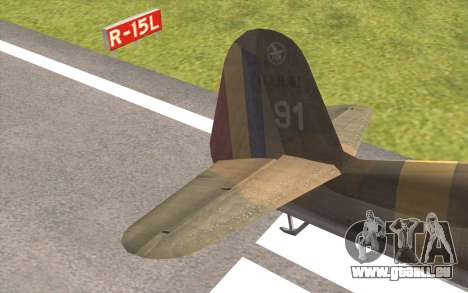 IAR 80 - Romania No 91 für GTA San Andreas zurück linke Ansicht