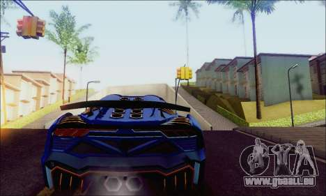 Zentorno GTA 5 V.1 für GTA San Andreas zurück linke Ansicht