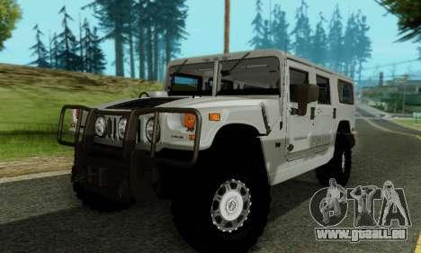 Hummer H1 Alpha pour GTA San Andreas vue de dessus