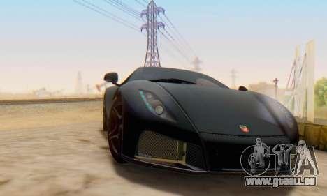 GTA Spano 2014 IVF pour GTA San Andreas sur la vue arrière gauche