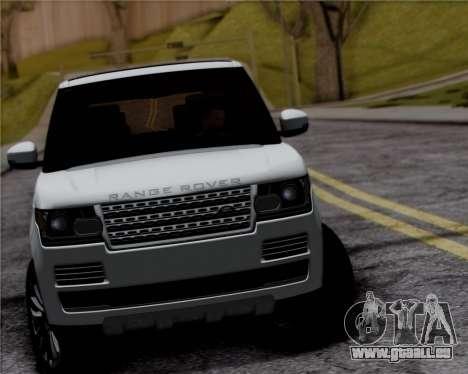 Range Rover Vogue 2014 pour GTA San Andreas vue arrière