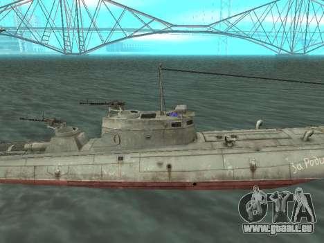 Le torpilleur type G-5 pour GTA San Andreas sur la vue arrière gauche