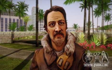 William Carver из The Walking Dead pour GTA San Andreas troisième écran