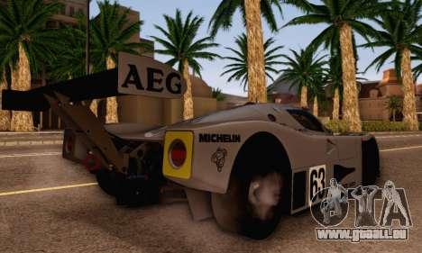 Mercedes Benz Sauber C63 1989 pour GTA San Andreas laissé vue