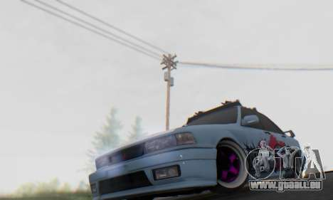 Mitsubishi Galant Generation Rock 1992 pour GTA San Andreas vue intérieure