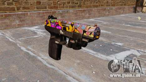 Pistole FN Five seveN LAM Graffiti für GTA 4
