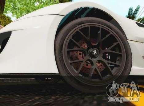 Ferrari 599XX Evolution für GTA San Andreas rechten Ansicht