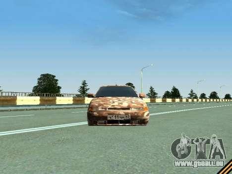 VAZ 2110 camouflage pour GTA San Andreas vue arrière