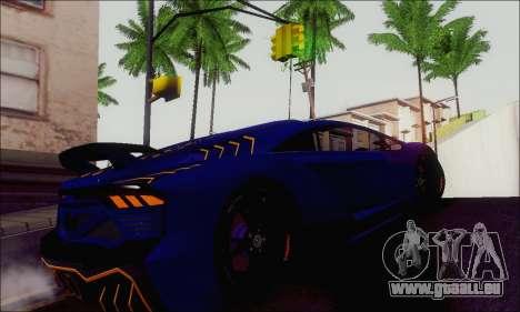 Zentorno GTA 5 V.1 für GTA San Andreas Rückansicht