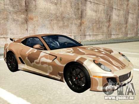 Ferrari 599 GTO pour GTA San Andreas roue
