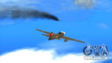 Messerschmitt Me.262 Schwalbe pour GTA San Andreas vue de côté