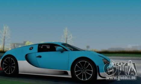 Bugatti Veyron Super Sport 2011 pour GTA San Andreas vue de dessous