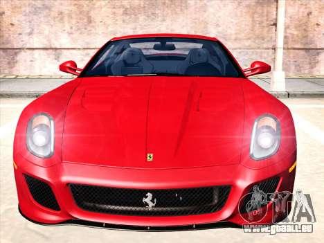 Ferrari 599 GTO pour GTA San Andreas laissé vue