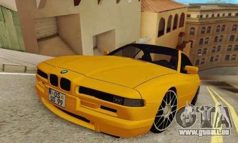BMW 850CSI 1996 pour GTA San Andreas sur la vue arrière gauche