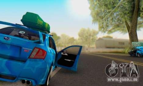 Subaru Impreza Blue Star für GTA San Andreas Unteransicht