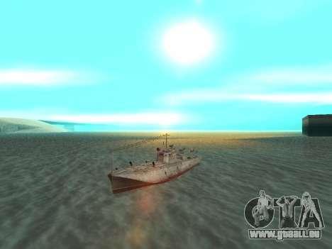 Le torpilleur type G-5 pour GTA San Andreas vue de droite