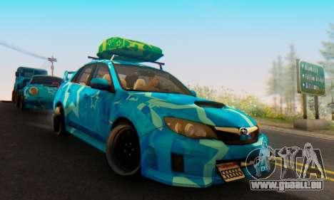 Subaru Impreza Blue Star für GTA San Andreas