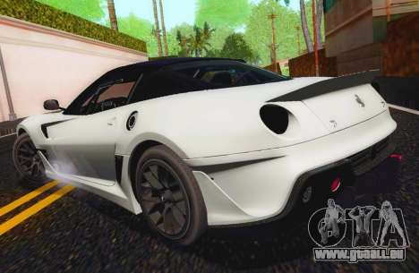 Ferrari 599XX Evolution für GTA San Andreas linke Ansicht