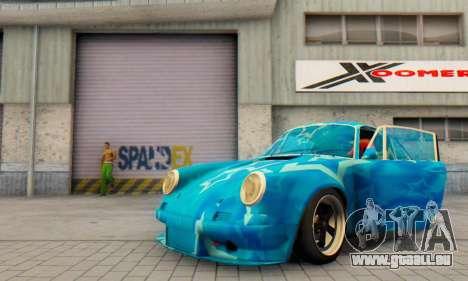 Porsche 911 Blue Star pour GTA San Andreas vue intérieure