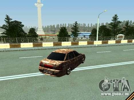 VAZ 2110 camouflage pour GTA San Andreas vue de droite