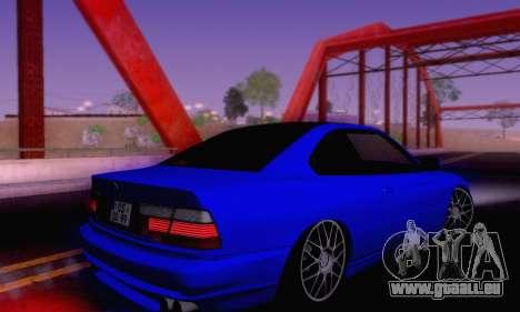 BMW 850CSI 1996 pour GTA San Andreas vue de dessous