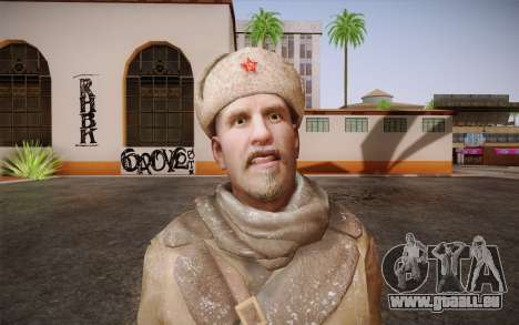 Viktor Reznov из CoD: Black Ops pour GTA San Andreas troisième écran