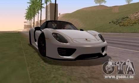 Porsche 918 2013 für GTA San Andreas