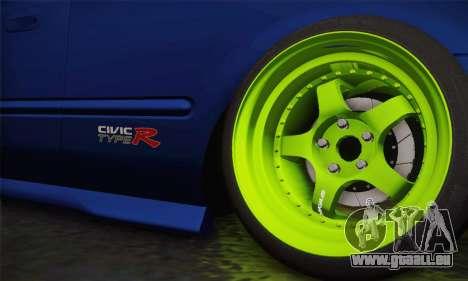 Honda Civic EK9 2000 Hellflush für GTA San Andreas zurück linke Ansicht