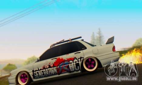 Mitsubishi Galant Generation Rock 1992 pour GTA San Andreas laissé vue