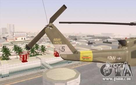UH-1 Huey pour GTA San Andreas sur la vue arrière gauche