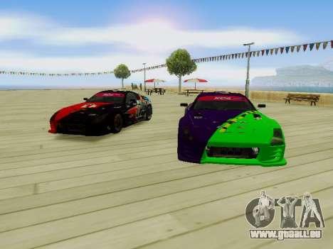 Toyota Supra Evil Empire pour GTA San Andreas vue intérieure