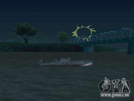 Le torpilleur type G-5 pour GTA San Andreas vue de côté