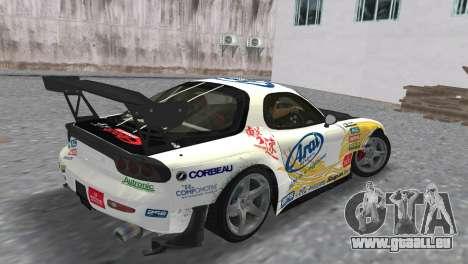 Mazda RX7 FD3S RE Amamiya Arial pour une vue GTA Vice City de la gauche