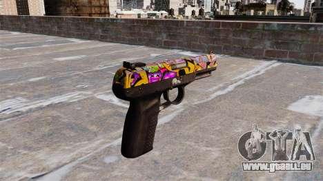 Pistole FN Five seveN Graffiti für GTA 4 Sekunden Bildschirm