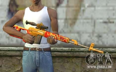 Le Dragunov Sniper Rifle (Point Blank) pour GTA San Andreas troisième écran