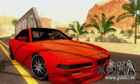 BMW 850CSI 1996 pour GTA San Andreas vue intérieure