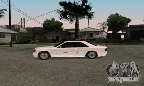 Mercedes-Benz W124 Coupe pour GTA San Andreas vue de droite